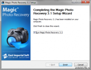 Установка Magic Photo Recovery окончена