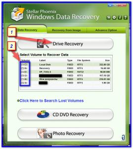 Выбираем диск или карту памяти