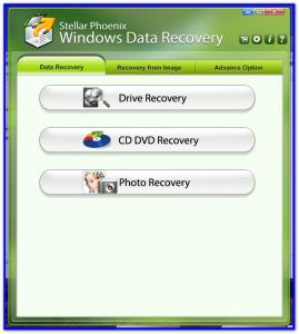 Главное окно программы Data Recovery