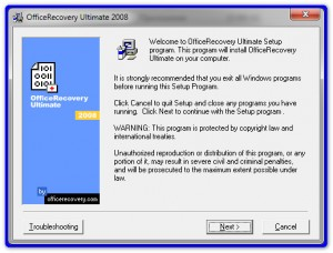 Установка OfficeRecovery 2008 Ultimate