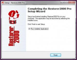 После установки запускаем Restorer2000