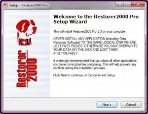 Установка программы Restorer2000