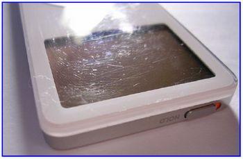 Микроцарапины на аудиоплеере