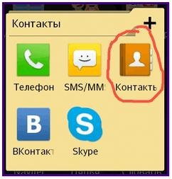 Контакты на телефоне