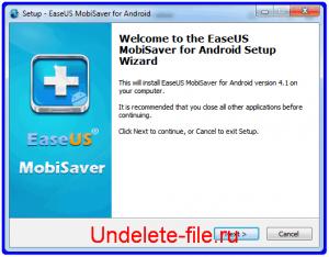Установка Android MobiSaver