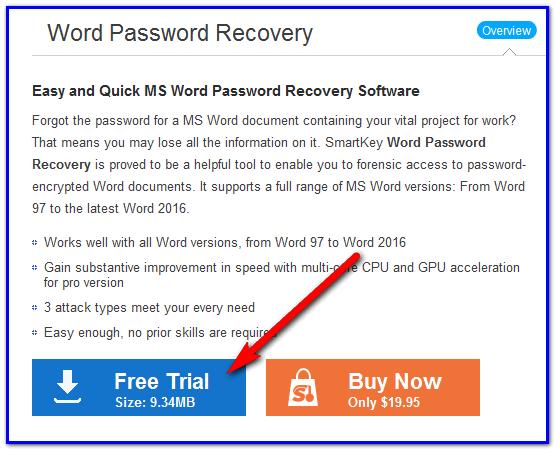 Скачать программу Word Password Recovery