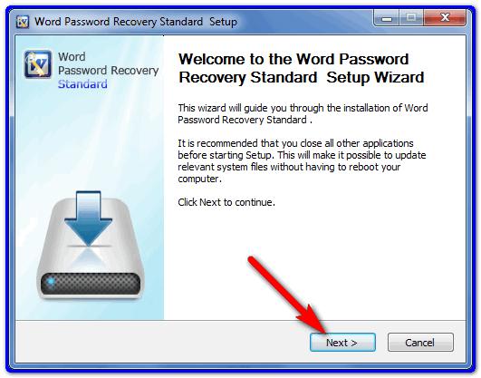Word Password Recovery установка