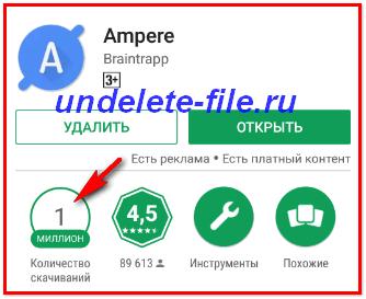 Ampere Pro pomozhet uznat' tok zarjadki Android