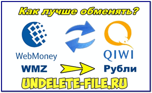 How and where it is better to exchange WMZ electronic money to Qiwi wallet in rubles